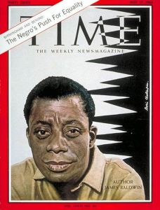 (Baldwin on the cover of the May 17th, 1963 edition of Time Magazine)