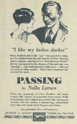 (A Newspaper Advertisement for Passing from 1929)