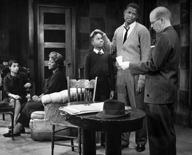 Scene from A Raisin in the Sun with the legendary Sidney Poitier as Walter