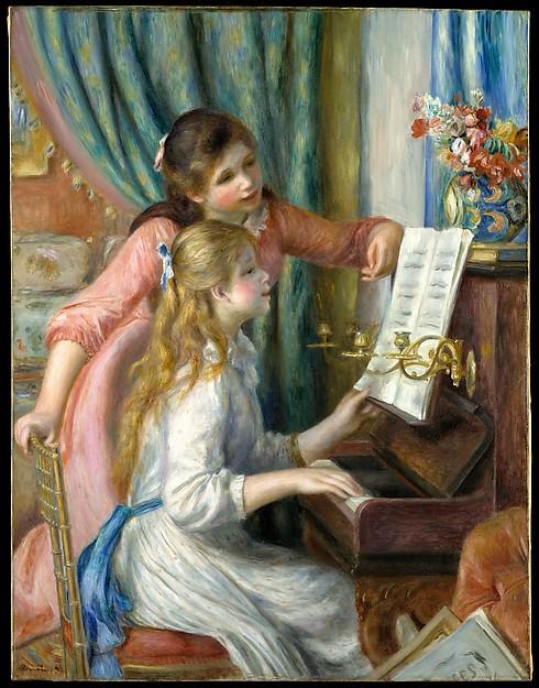 """Renoir's """"Girls at the Piano"""""""