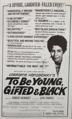 From the Lorraine Hansberry Trust